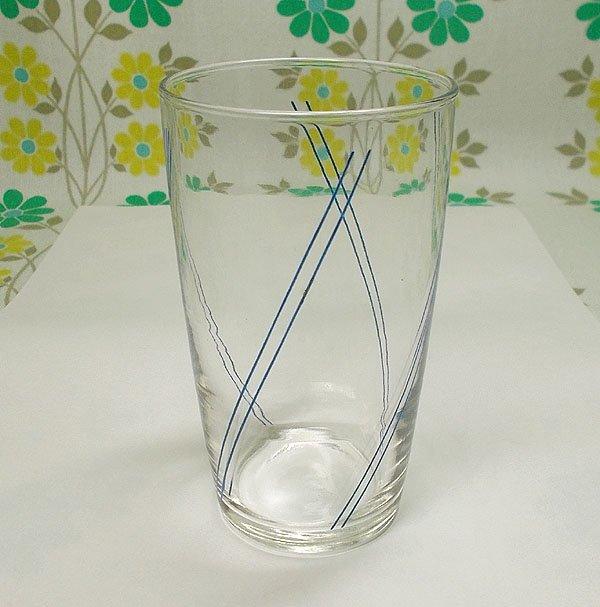 レトロ 斜め2本線 グラス