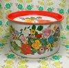 レトロポップ 花柄 大缶