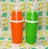 レトロ プラスチック コップ付き ジュースボトル