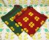 レトロポップ 座布団カバー チャームペチカ 花柄×千鳥柄