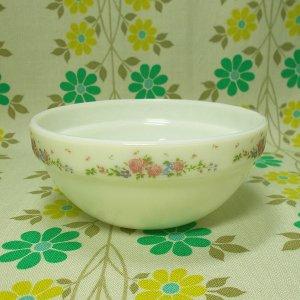 ビンテージ ミルクガラス 小花柄 シリアルボウル