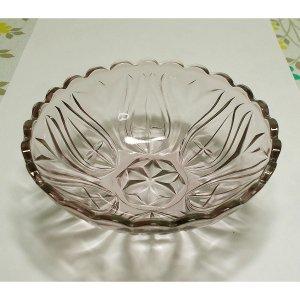 レトロ プレスガラス 紫ガラス 小鉢