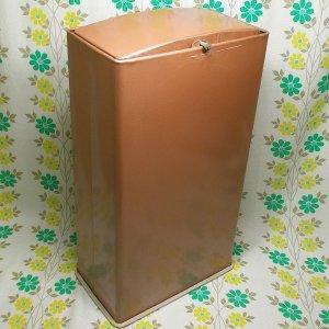 昭和レトロ フラップ蓋付き スチール ゴミ箱 クリンケース