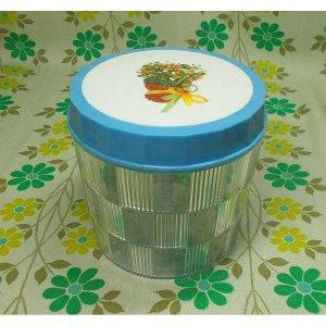 レトロプラスチック 市松アートポット 丸型 花束