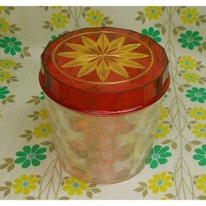 レトロプラスチック フローラルポット 花柄