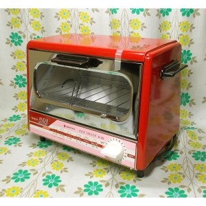 レトロポップ サンヨー オーブントースター レッド