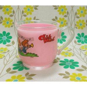レトロプラスチック Chick Mates 手付きコップ ピンク