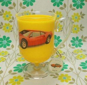 レトロプラスチック 手付きコップ チューリップ型(大) チャーム付き フェラーリ