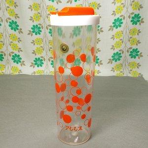 レトロプラスチック 水玉柄 フリーザーポット オレンジ 1L