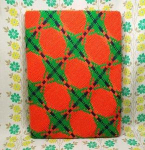 レトロポップ こたつ布団カバー レッド×グリーン 格子柄