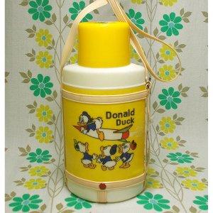 レトロプラスチック 象印 ディズニー水筒 小判型 ドナルドダック