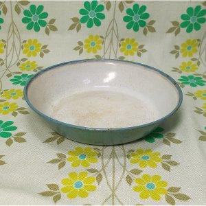 昭和レトロ 錨マーク ホーロー製 小皿