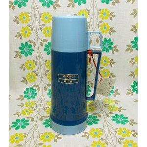 UKビンテージ THERMOS 魔法瓶 水筒 ブルー 0.23L