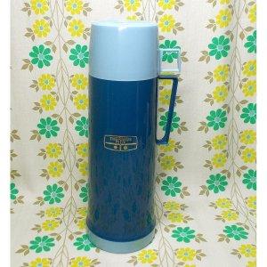 UKビンテージ THERMOS 魔法瓶 水筒 ブルー 0.75L
