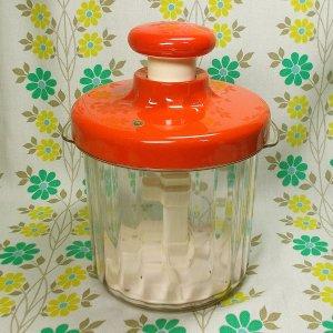 レトロプラスチック 簡易漬物器 ハイペット オレンジ