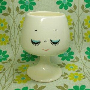 昭和レトロポップ なかよし表情カップ ブランデーカップ おやすみ