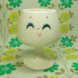 昭和レトロポップ なかよし表情カップ ブランデーカップ 笑顔