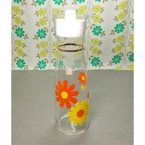 レトロポップ ガラス製 ピッチャー デイジー花柄
