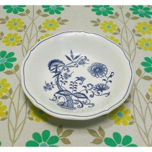 レトロプラスチック ブルーオニオン柄 メラミン皿 小鉢