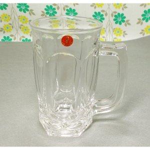 レトロ プレスガラス ミニジョッキグラス
