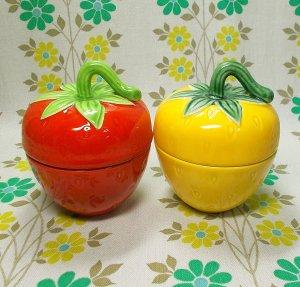 レトロポップ 陶器製 イチゴポット
