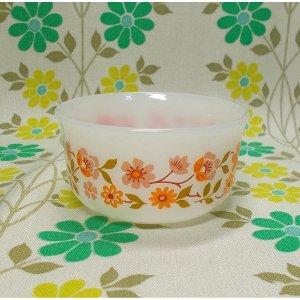 フランスビンテージ arcopal 小花柄 カスタードカップ