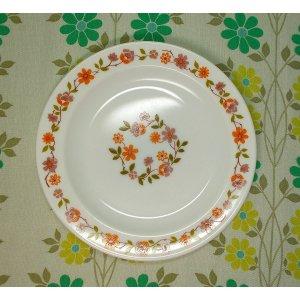 フランスビンテージ arcopal 小花柄 ケーキプレートA φ19cm