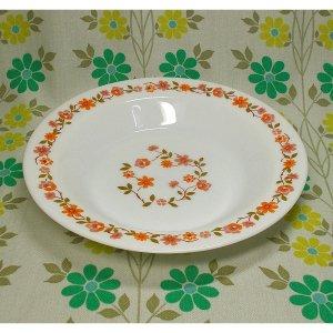 フランスビンテージ arcopal 小花柄 スーププレート