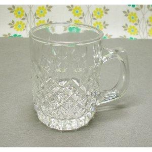 レトロ プレスガラス レトロ柄 ミニジョッキグラス