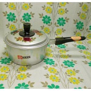 レトロポップ 薔薇花柄 アルミ製 片手鍋 15cm
