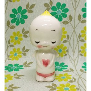 昭和レトロ RUNE 陶器製 天使 人形