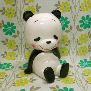昭和レトロ RUNE 陶器製 パンダ CHI・CHI 貯金箱