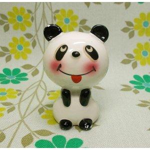 昭和レトロ RUNE 陶器製 パンダ 人形