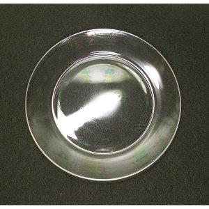 フランスビンテージ OLD arcoroc クリアプレート φ17.5cm