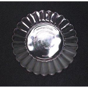 フランスビンテージ OLD DURALEX デザートプレート クリア φ18cm