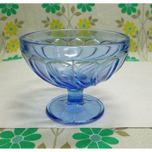 昭和レトロ ブルーガラス 氷コップ