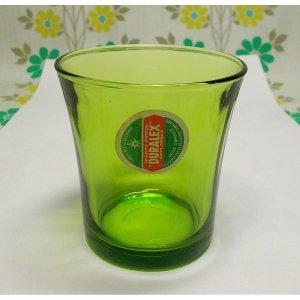 ビンテージ OLD DURALEX タンブラーグラス グリーン