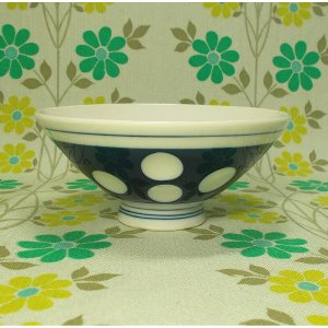 昭和レトロ 水玉茶碗 3