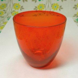 昭和レトロモダン カラーグラス レッド