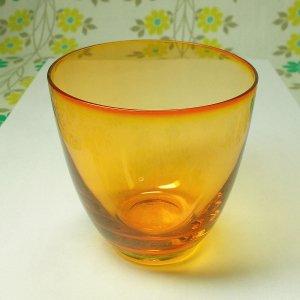 昭和レトロモダン カラーグラス オレンジ