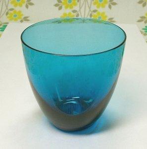 昭和レトロモダン カラーグラス ブルー