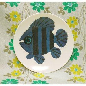 レトロプラスチック 熱帯魚 メラミン皿 小皿