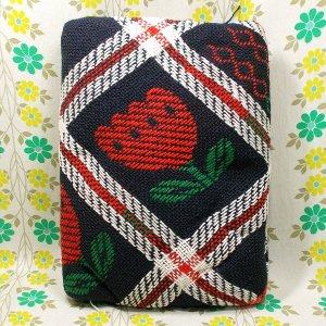 レトロポップ こたつ布団カバー チューリップ花柄×格子