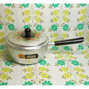 レトロポップ 花柄 アルミ製 片手鍋 ローゼ 18cm