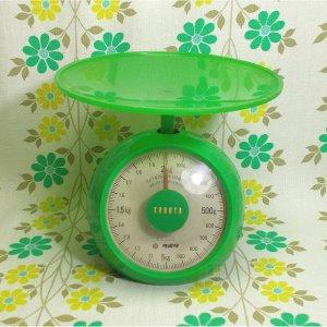 レトロポップ クボタ キッチンスケール 2kg グリーン