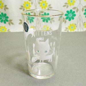 昭和レトロ RUNE LOVELY KITTENS 猫グラス