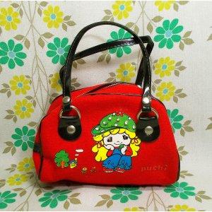 昭和レトロファンシー 可愛い女の子のミニバッグ