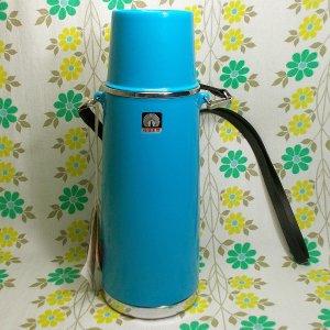 レトロポップ ピーコック魔法瓶 保温水筒 ブルー