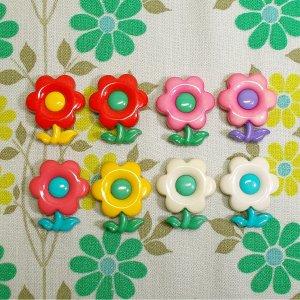 レトロポップ 花型 マグネット