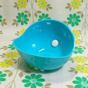 レトロプラスチック シャンプーボール 石鹸置き ブルー